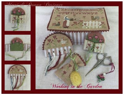 Mani di Donna Working in the Garden Sewing Box  MDD-WITGSB