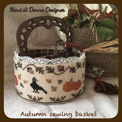 Mani di Donna Autumn Sewing Basket MDD-ASB