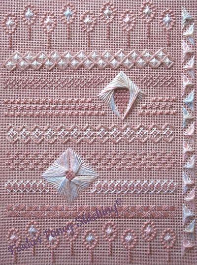 Freda's Fancy Stitching Pretty on Pink