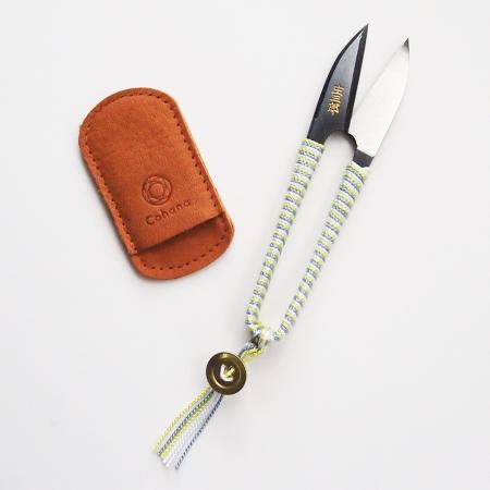 Shozaburo Thread Snips with Silk Iga Braid (Yellow)