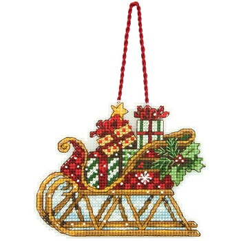 Sleigh ornament by Dimensions