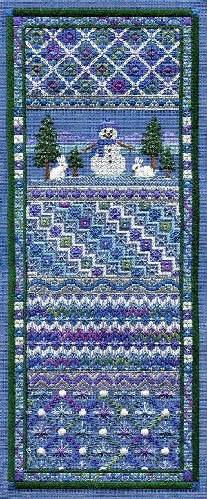 SNOWMAN PANEL by Laura J.Perin Designs
