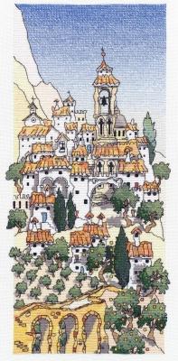 Michael Powell Art Spanish Hill Town I - MPCP33