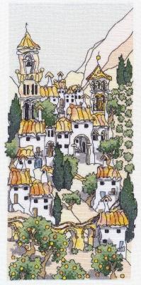 Michael Powell Art Spanish Hill Town III - MPCP35