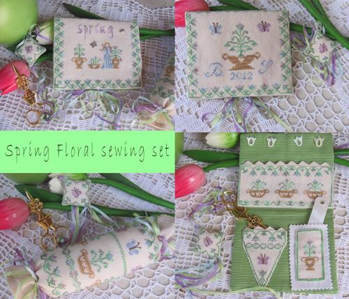 Spring Flowers Sewing Set MDD-SFSS by Mani di Donna