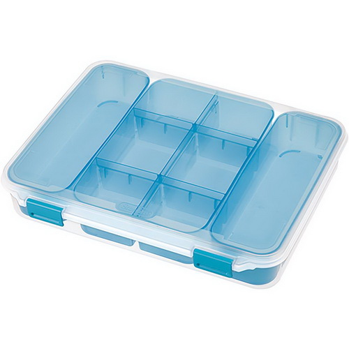 Sterilite Divided Case Storage Container Clear