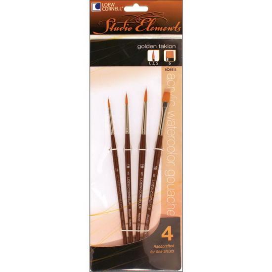 Loew-Cornell Stencil Brush Set-15//Pkg