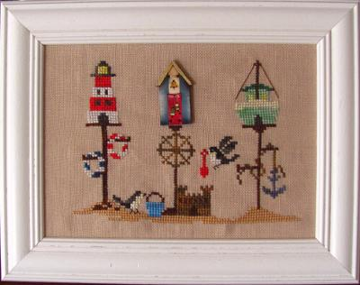 Summer Birdhouse (chart and button)  MDD-SUMBWB by Mani di Donna