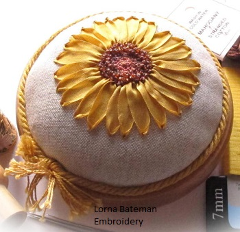 Sunny Sunflower pincusion