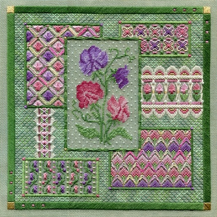 Sweet pea collage by Laura J.Perin