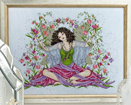 Sweet Pea fairy by Joan Elliott