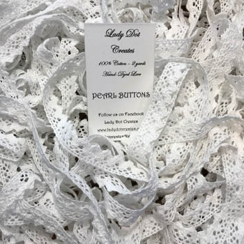 Pearl Buttons Lace (2 yards) by Lady Dot Creates