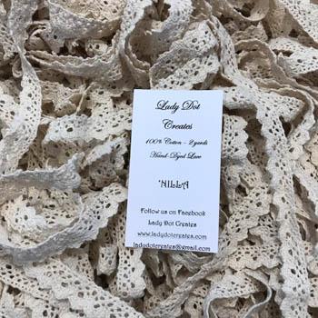 Nilla Lace (2 yards) by Lady Dot Creates