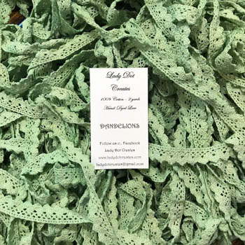 Dandelions Lace (2 yards) by Lady Dot Creates
