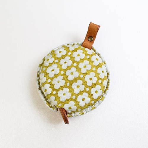 Tape Measure of Yuzen Leather (Yellow)