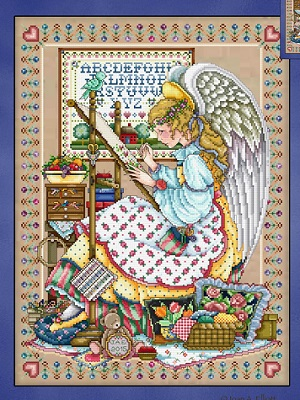 The Angel of cross stitch by Joan Elliott