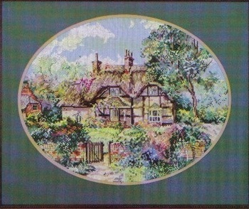 The ginger cottage cross-stitch chart
