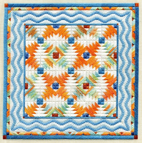 TROPICAL PINEAPPLE QUILT by Laura J.Perin Designs