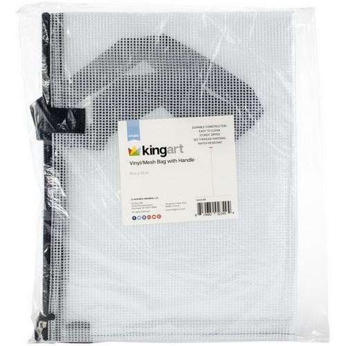 "Vinyl Mesh Bag W/Handle 19""X25"""