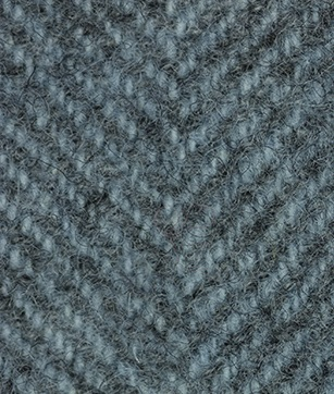 WDW Wool Fabric, Herring Bone #1155 Blue Heron