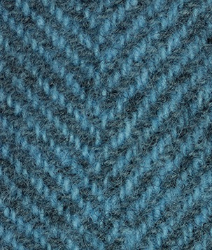 WDW Wool Fabric, Herring Bone #2118 Blue Topaz