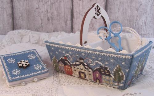 Winter Days Sewing Basket MDD-WDSB by Mani di Donna