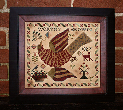 Worthy Brown by Carriage House Samplings