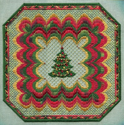 Bargello Christmas square by Laura J.Perin Designs