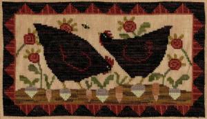 Teresa Kogut XS342 - Hens in the Garden