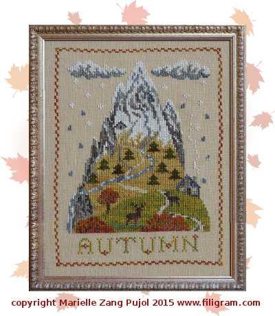 Filigram Autumn mountain,A108