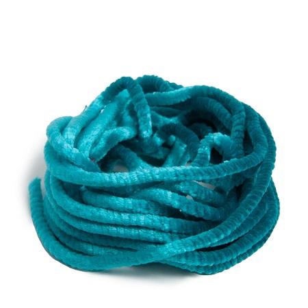 Au Ver A Soie ® Silk Satin Chenille-0133 Turquoise