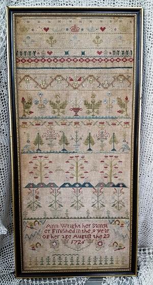 Samplers Not Forgotten Ann Wright 1726