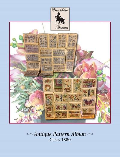 Antique Pattern Album circa 1880, Antique Reproduction by Cross Stitch Antiques
