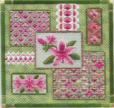 Azalea collage by Laura J.Perin Designs