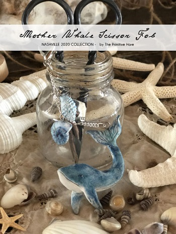 Mother Whale scissor fob by The Primitive Hare
