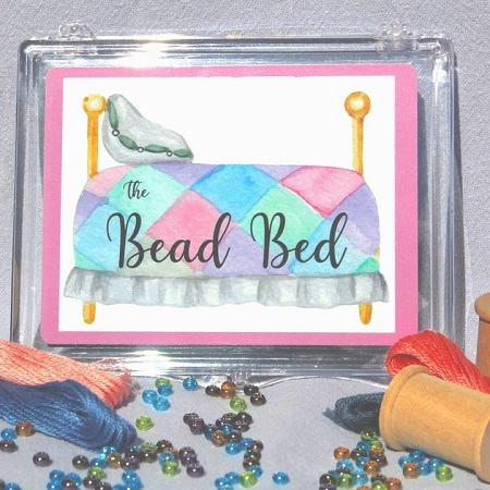 The Bead Bed beads and needles holder