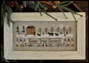 Little House of Needleworks Bear tree forest