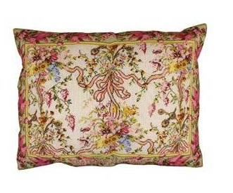 Sajou Cross stitch kit the Queen's Bedchamber cushion