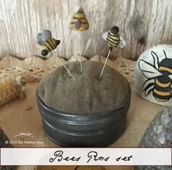 The Primitive Hare Bees pin