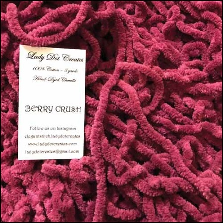 Berry Crush Chenille by Lady Dot Creates