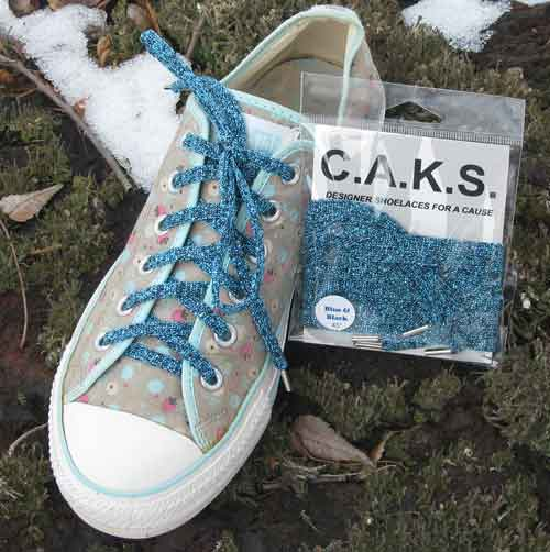 check out competitive price first look CAKS - Black & Blue Shoelaces