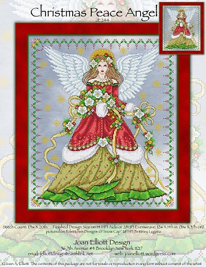 Christmas Peace angel by Joan Elliott