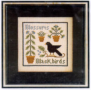 Blossoms & Blackbirds by Little House of Needleworks