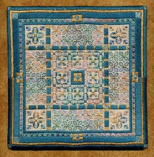 Blue iris square by Laura J.Perin Designs