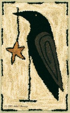 Artful Offerings Starring Mr. Crow Punchneedle