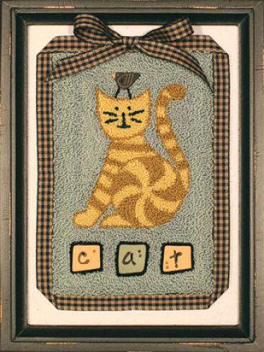 Artful Offerings Cat & Bird Games punchneedle