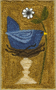 Artful Offerings Springtime Bluebird Punchneedle