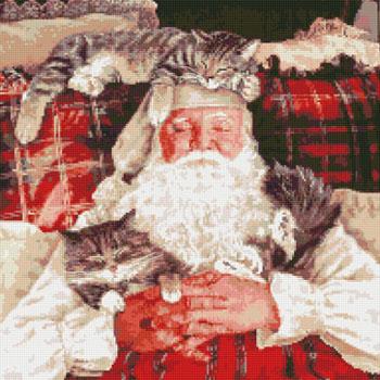 Catnap Santa-9822- by Kustom Krafts