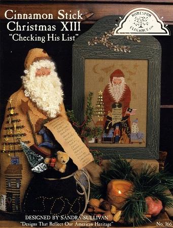 Homespun Elegance CINNAMON STICK CHRISTMAS  Checking His List