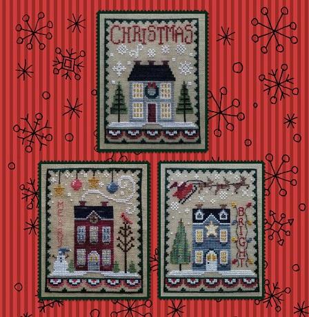 Waxing Moon Designs Christmas house trio